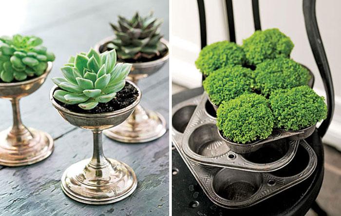 Για πρωτότυπες γλάστρες για τα φυτά